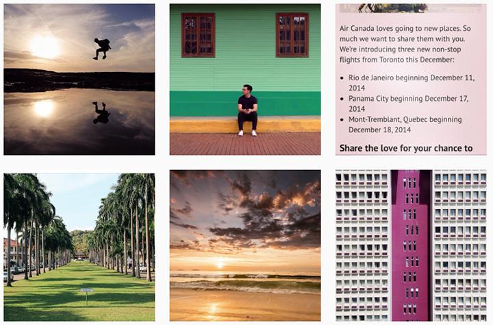 air canada instagram campaign