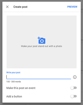 how to create google post